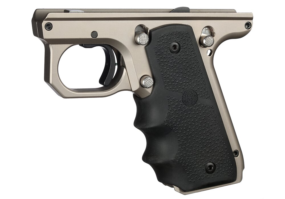 VC Target Frame, 1911 Style, Silver, Hogue Grips | Volquartsen Firearms