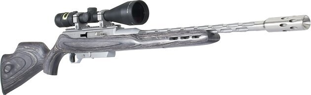 123 evolution gray stock w i flutes w trijicon scope