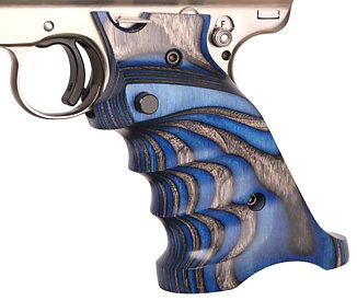 343 blue laminated wood grips