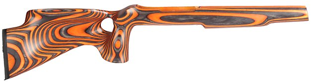443 orange thumbhole stock